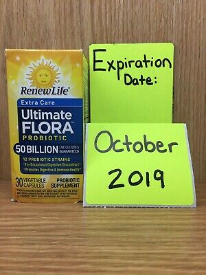 Renew Life Ultimate Flora 50 billion EXTRA CARE Probiotic 30 Caps EXP: MAY2019