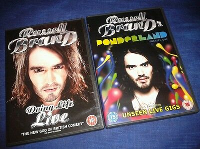 Russell Brand Ponderland Series 1 + Russell Brand Doing Life Live Standup - DVDs