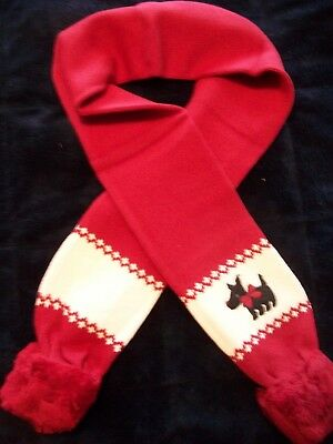 Gymboree scarf Holiday red Scottie Dog NWT