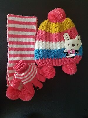 KID'S GLOVE, HAT & SCARF SET (WNTSET10) *Free Shipping*