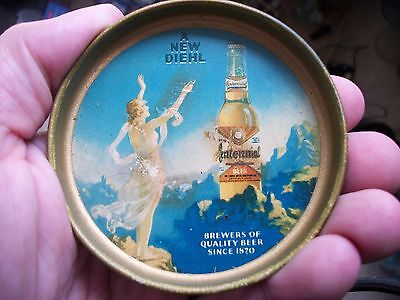 Christian Diehl Brewing Company 1940S Small Beer Tip Tray 3 Inches Defiance Ohio