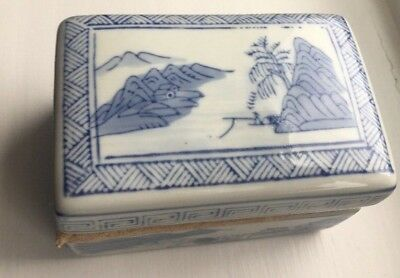 Blue And White Oriental Trinket Boxes