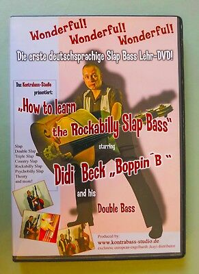 How to learn the Rockabilly Slap Bass LehrDVD deutschsprachig Didi Beck Boppin B