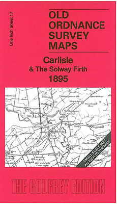 Old Ordnance Survey Map Carlisle Solway Firth 1895 Kirkbride Dalston Bowness