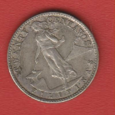 Philipinas 20 Cents 1945 Silver