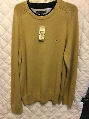 Mens Sweater Size XL Tommy Hilfiger Tan/Brown-Crew Neck~Long Sleeves~Very NICE!