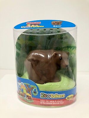 NEW Brown Bear Zoo Talkers Fisher Price Little People Animal Figure
