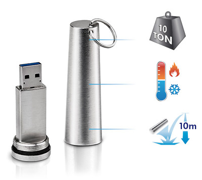 LaCie 64gb XtremKey USB 3.0, 2.0 (Heat/Cold/Pressure Resistant & Waterproof)