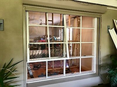 Timber Window painted white 2100 x 1870 Colonial Awning