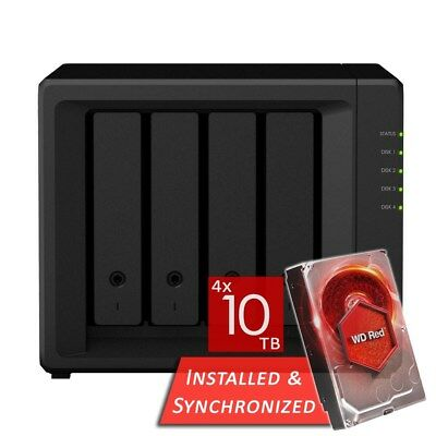 Synology DiskStation DS418play 4 Bays NAS + 40TB 4x WD 10TB WD100EFAX