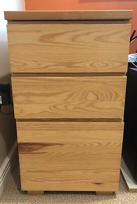 3 Drawer Timber Office Filing Cabinet