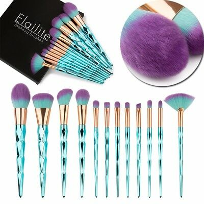 12PCs Kabuki Powder Makeup Brushes Set Lady Foundation Eyeshadow Blush Brush gy