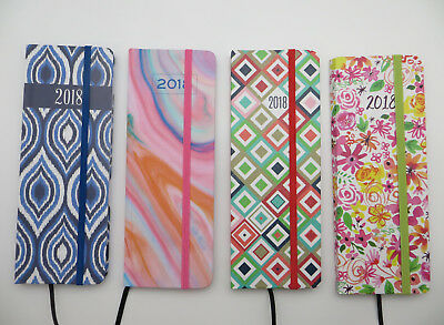 """2018 PLANNER *choice of 4* Hard Cover Purse or Pocket Size Calendar 7.25"""" x 2.5"""""""
