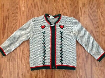 St. Peter Trachten German Knitted Gray Cardigan Sweater vintage gray girls 2-3