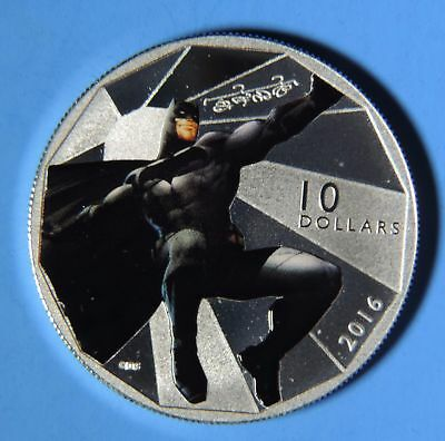 2016 Canada Batman vs Superman Dawn of Justice Batman $10 .9999 Fine Silver Coin