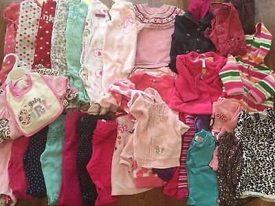 Lot Of 3-6 + 6 Months Baby Girl Clothes, Gymboree, Carter's, Old Navy + More
