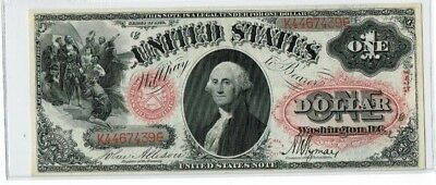 "1875 $1 ""Large Size""  Red Seal US Note ""Gem Uncirculated"""