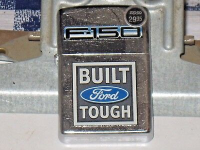 A New ZIPPO Windproof USA LIGHTER 207 Ford Oval F150 Tough Built Brushed Chrome