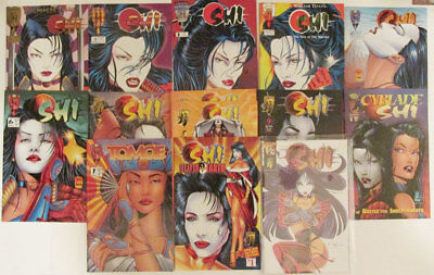 SHI Comic Book Set - Lot of 14 - CRUSADE Comics - Tomoe, Cyblade, #1/2 - Tucci