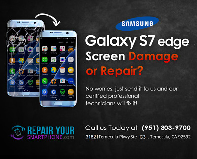 Samsung Galaxy S7 Edge Cracked Broken Screen Glass Repair Replacement Service