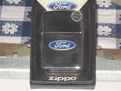 New ZIPPO Windproof USA LIGHTER 250f.957 Ford Tire Tread Blue Strips HP Chrome
