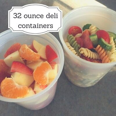 Quart Size Deli Containers with Lids.  32oz Containers!!  GREAT FOR THE HOLIDAYS