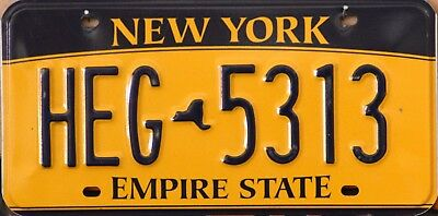 "USA Number Licence Plate NEW YORK ""EMPIRE STATE""  ***NEW GOLD STYLE***"