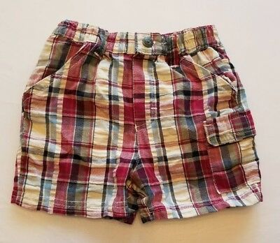 Sesame Street Toddler Baby Shorts Plaid, Size 12 Months▪FREE Shipping!