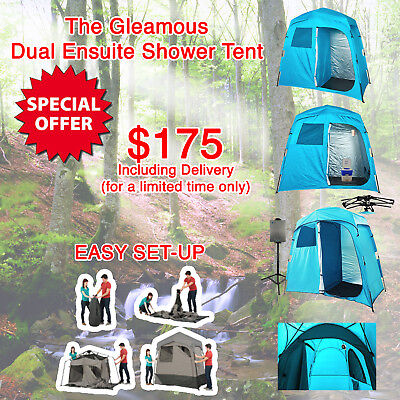 Shower Tent Ensuite Duo Change Room Camp Toilet Water Heater 4Wd