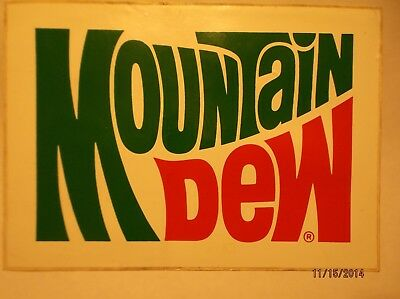 Mountain Dew NOS Decal Sticker dated July 1977 or 7-77