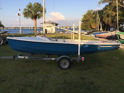 CL 16 Wayfarer Sailboat with Recent Sails, Rigging, Seats and Trailer