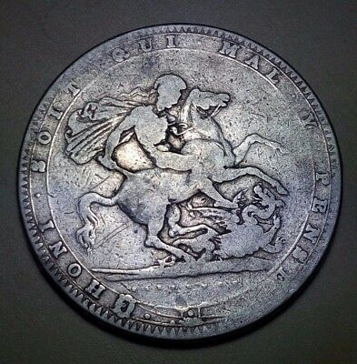 Great Britain 1820 King George III Crown Silver Coin