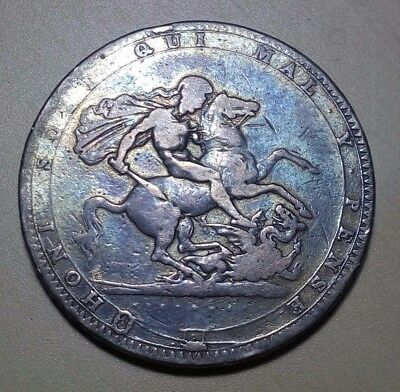 Great Britain 1819 King George III Crown Silver Coin