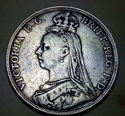 Great Britain 1889 Crown Silver Coin