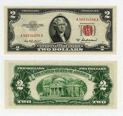 1953 US $2 bill, series A, Red Seal