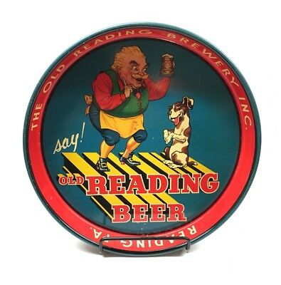 Vintage Old Reading Beer Serving Tray with Gus and Begging Dog Reading, PA