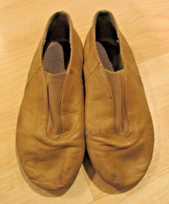 Girl's Tan BLOCH Dance Jazz Shoes Leather Split-Sole youth size 12G