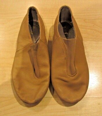 Girl's Tan BLOCH Dance Jazz Shoes Leather Split-Sole youth size 13 1/2