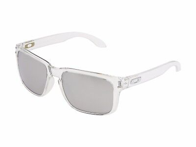 Oakley OO 9102-06 Holbrook Clear Frames Chrome Iridium Sunglasses 55MM NIB