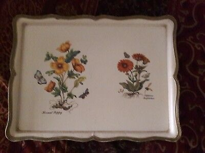 Vintage Sezzatini Firenze Gold Trim Italy Serving Bar Food Vanity Tray