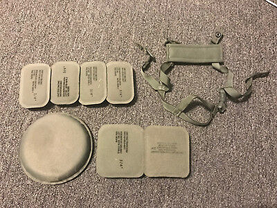Pre-Owned Ach Mich Military Army/usmc Chin Strap W/ Helmet Pads Bundle Set