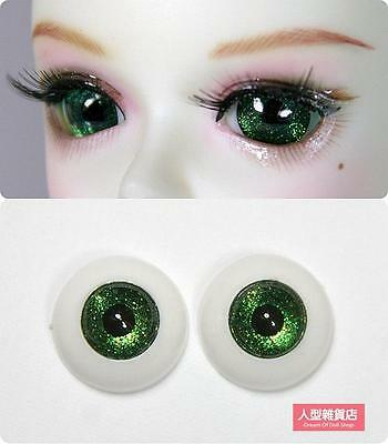 14mm acrylic eyes For BJD DOD AOD MK OK RD Doll Dollfie green H8