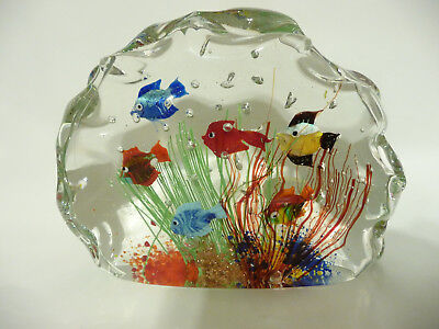 Vintage Murano Art Glass Fish Aquarium Sculpture