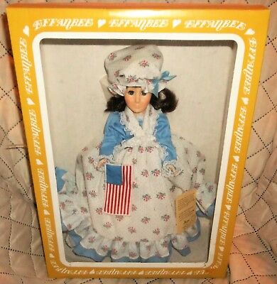 Vintage Effanbee Betsy Ross In Box Women Of The Ages Doll With Tag And...