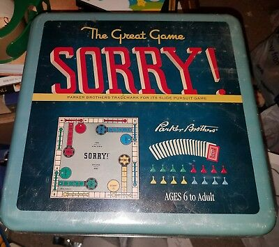 The Great Game SORRY! [2004 Collectors Tin] Hasbro (New and Sealed)*
