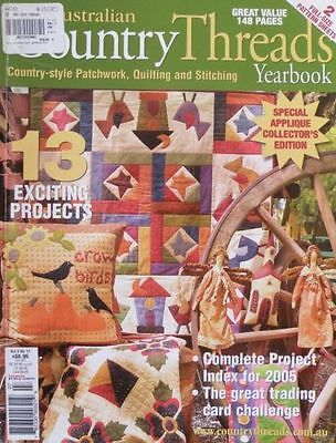 Australian Country Threads Magazine Yearbook 2005 Vol 5 No 11 RARE TO FIND
