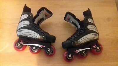 """Mission"" ""Helium"" 500s professional hockey inline skates in a usa (child) size"