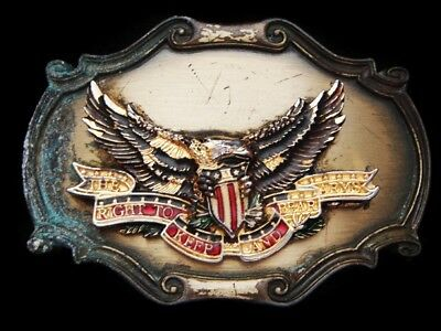 Lh17125 Vintage 1978 **the Right To Keep And Bear Arms** (Eagle) Gun Belt Buckle