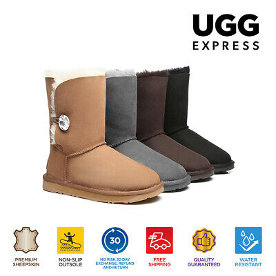 92f659a896 UGG Boots - Ladies Water Resistant Short Button with Crystal - Clearance  Sale