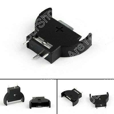 Coin Cell CR2032 Vertical Battery Holder Upright Mount Socket 3 Pin B4